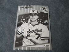 Fleer Bill Ripken 1988 Fake Copy of Card # 616 Card in Black and White