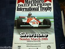 SILVERSTONE International Trophy 1983 programma F2 Stefan Bellof Palmer questo