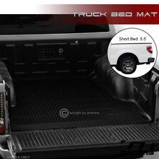 For 2004-2014 Ford F150 5.5 Ft SB Black Rubber Diamond Truck Bed Floor Mat Liner