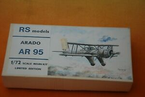 RS Models WWII German Arado  AR 95 Airplane 1/72 Scale Resin Limited Edition Kit