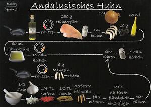 Karte: bebildertes Rezept - Andalusisches Huhn