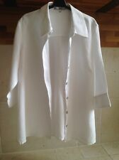 H&M BB Women's Maternity White 100% Linen Blouse Shirt Size Extra Large 16 18