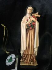 """Saint St Therese of Lisieux Hand Carved Painted Figurine Statue 6"""""""