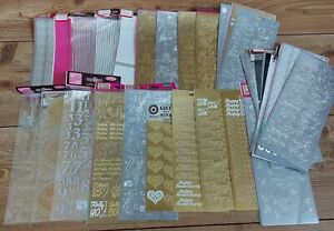 Anniversary & New Baby Craft Stickers Lot Anitas Outline Gold Silver 37 Sheets