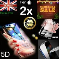2X 5D Curved Full Cover Tempered Glass Screen Protector For iPhone 6 7 8 X Plus