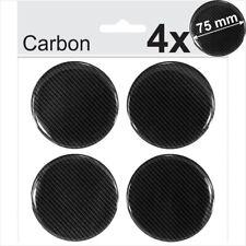 4x 75mm CARBON Domed Resin Centre Cap Hub 3D Stickers Wheel Caps Badge Emblem