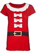 New Kids Girls Children Dancing Reindeer Printed Christmas Cap Sleeve T Shirt