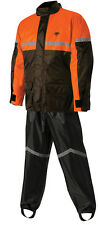 NELSON RIGG MOTORCYCLE RAIN SUIT STORMRIDER SR-6000 MENS 2XL  XXL BLACK ORANGE