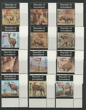 """Thematic Stamps Animals - SOMALILAND 1999 DEF O/P """"GOVT OFF"""" RED mint"""