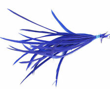20 Royal Blue Loose Goose Biot Feathers length 15cm-19cm - crafts, millinery,etc
