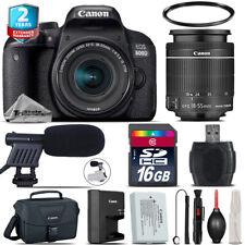 Canon EOS Rebel 800D T7i + 18-55mm IS STM + Shoutgun Mic + UV + Case - 16GB Kit
