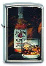 Briquet Zippo Jim Beam bottle with glass du whisky NEUF neuf dans sa boîte Pièce de collection!