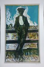 BILLY CHILDISH signed and numbered Man at Fence print rare
