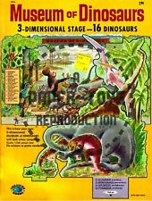 Vintage Reprint - 1961 - Museum Of Dinosaurs Punch-Out Book - Reproduction