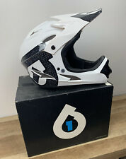 New SixSixOne Comp Shifted Full Face MTB White BMX Bike Helmet Small