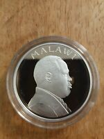 Malawi 5 Kwacha 1995 Silver Proof Issue United Nations 50th Anniversary, KM# 23a