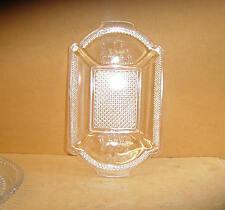 EAPG CRYSTAL DEER & PINE TREE TRAY OR PLATTER BELMONT GLASS 1883