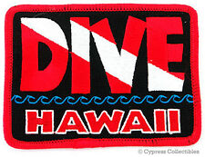 DIVE HAWAII - EMBROIDERED PATCH SCUBA DIVING FLAG LOGO IRON-ON TRAVEL SOUVENIR