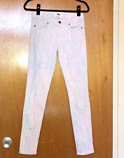 PAIGE Size 28 Verdugo Ultra Skinny Jeans CANDY Marbled Pastel Stretch Denim