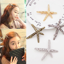 Fashion Women Beach Coral Starfish Hair Clip Barrette Hairpin Bobby Pin Jewelry