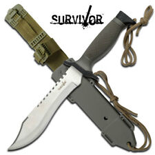 "Survivor Military SAWBACK BOWIE Knife / Survival Knife - 12"" Heavy Duty Knife"