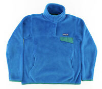 Patagonia Womens Small Retool Fleece T Snap Pullover Polartec Therma Pro Blue