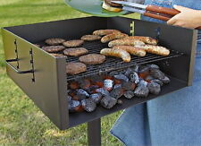 Extra Large Park Grill BBQ Grills Outdoor Picnic Style Backyard Barbecue Camping