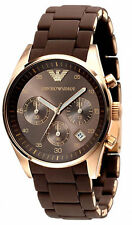 Emporio Armani AR5891 Sportivo Rose Gold Brown Women's Quartz Watch