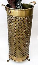 Umbrella Stand Solid Brass Openwork Design 114AB