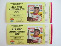 VTG 1990 Charlotte ALL PRO 300 Nascar 2 Ticket Stubs STERLING MARLIN Race Winner