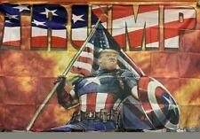 Donald Trump Flag CAPTAIN AMERICA 3x5ft Banner USA!