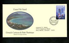 Postal History Grenada Grenadines #2393 FDC WTC World Trade Center Towers 2002