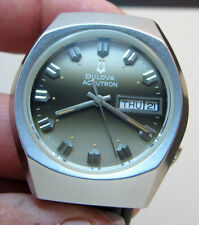 SERVICED ACCUTRON 219 BULOVA STAINLESS STEEL TUNING FORK MEN'S WATCH N7