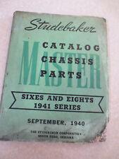 Original 1941 Studebaker passenger cars illustrated chassis parts catalog