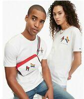 Tommy Hilfiger Designer Unisex Pride 100% Cotton White T Shirt Size S M or L