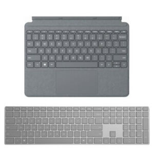 Microsoft Surface Keyboard Gray+Surface Go Signature Type Cover Platinum - Bluet
