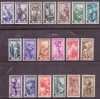 1950 Italia Al Lavoro Ruota 19 Val MNH Catalogo 634-52 MNH Integri