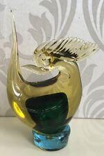 Hermosa vintage Murano de arte de vidrio Pájaro Figura De Gallo