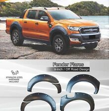 FORD RANGER 2015-17 4 DOOR  BLACK FENDER FLARES WHEEL ARCH WITH NUTS 9 inch