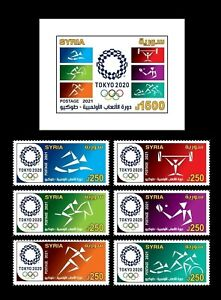 Syria, Syrie 2021 , Tokyo Olympic Games  MS + Stamp 6V MNH
