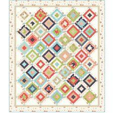 "Weekender Quilt Kit 58"" x 68"" with Moda Harper's Garden Fabric Sherri & Chelsi"