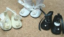 "Doll Shoes, 45mm Black German style for 10"" Patsy, Ann Estelle"