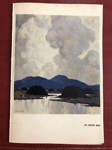 Lot of 8 PAUL HENRY Prints From Book Ireland Irish 5 x 8 Color B & W Kinsale Bog