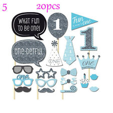 1st Birthday Photo Booth Props Boy Girl First Party Kids Decorations Supply Hot 5 20pcs