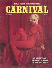 Org Vintage Carnival Pinup Magazine- Kathy Porter- Vivian Borg- September 1962