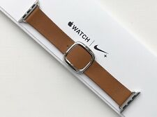GENUINE APPLE WATCH MODERN LEATHER BUCKLE - SADDLE BROWN 38/40mm M