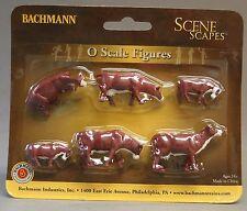 BACHMANN O GAUGE COWS BROWN & WHITE figures farm animals train people 33152