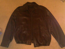 American Classics Colebrook Real Black Leather Jacket Motorcycle Bomber Flight