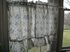 "pfaltzgraff Yorktowne 36"" L Ruffled Tier Curtains,Cotton Blend,Kitchen,Multi-col"