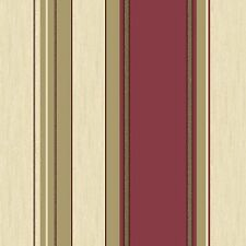 NEW Rich Red/Silver Glitter- M0803 - Synergy - Stripe -Textured Vymura Wallpaper